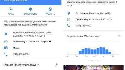 Con Google Maps podrás ver cuándo los negocios locales estén llenos