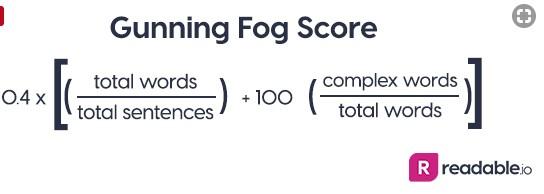 calculo gunning fog