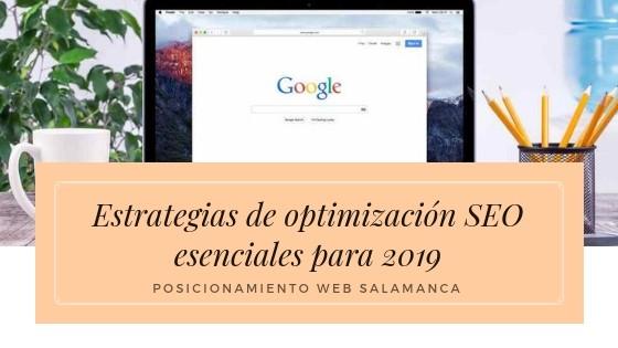 Estrategias de optimización SEO esenciales para 2019