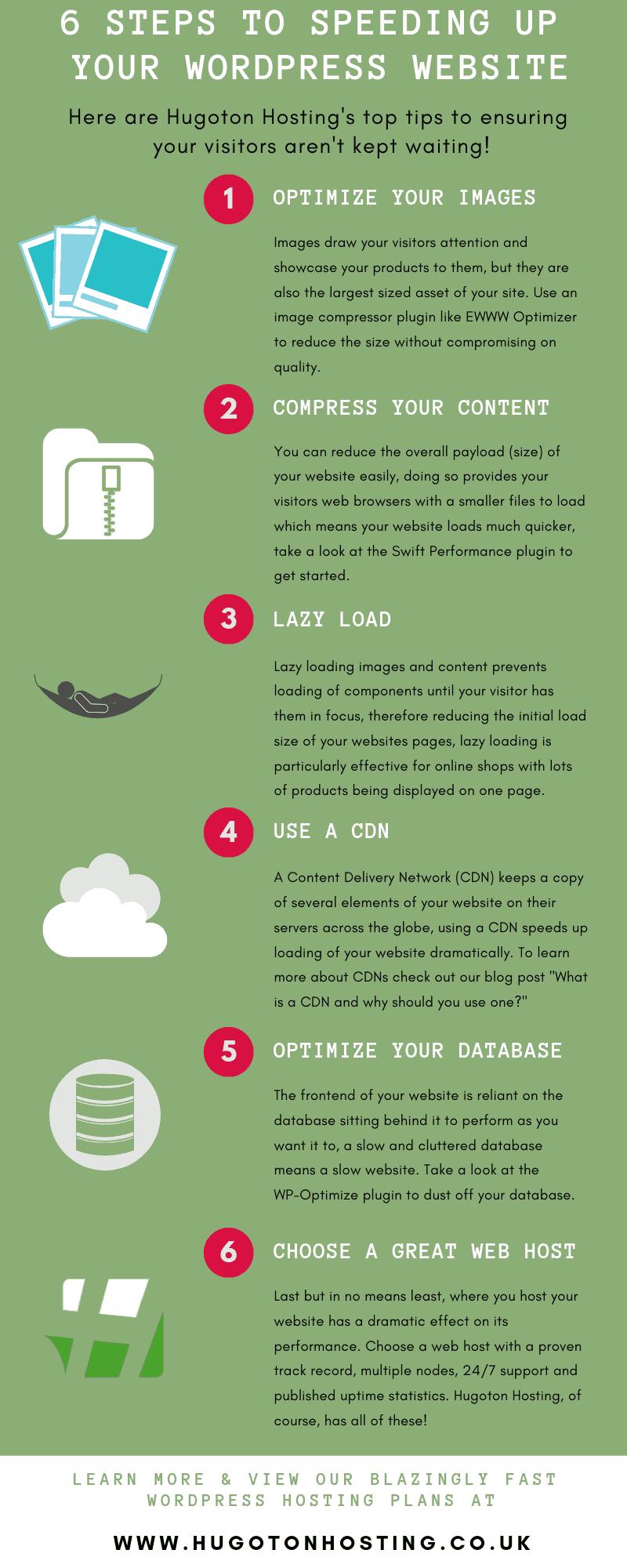mejorar los tiempos de carga de tu sitio infografía