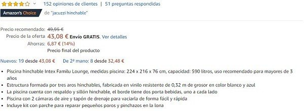 bullet points en amazon