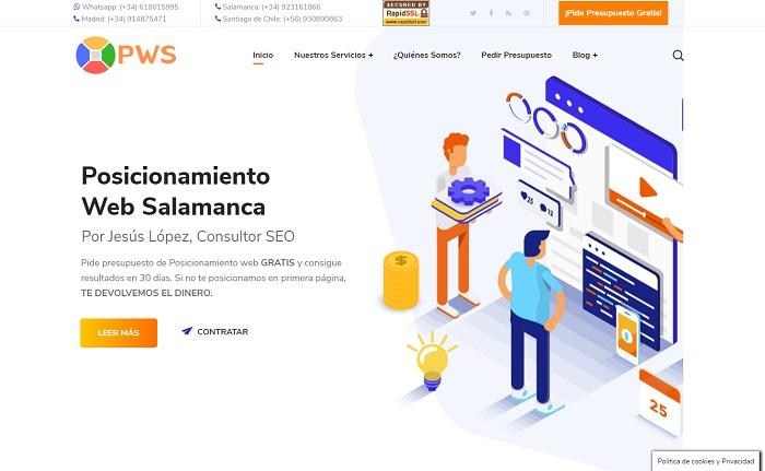 pagina de inicio pws